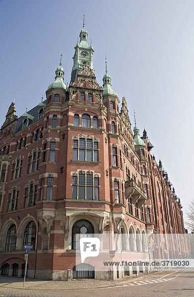 Verwaltungsgebäude der Hamburger Hafen und Lagerhaus AG in der Hamburger Speicherstadt