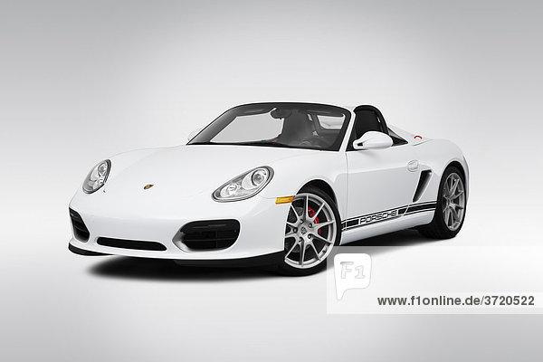 2011 Porsche Boxster Spyder in weiß - Winkel Vorderansicht