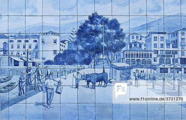 Kacheln am Stadttheater - Azulejos - Funchal - Madeira Kacheln am Stadttheater - Azulejos - Funchal - Madeira