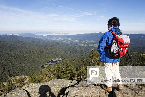 Blick von Großer Arber zum Kleiner Arbersee - Bayerischer Wald - Niederbayern