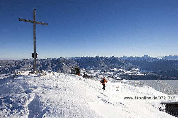 Gipfel von Brauneck bei Lenggries - Isarwinkel Oberbayern