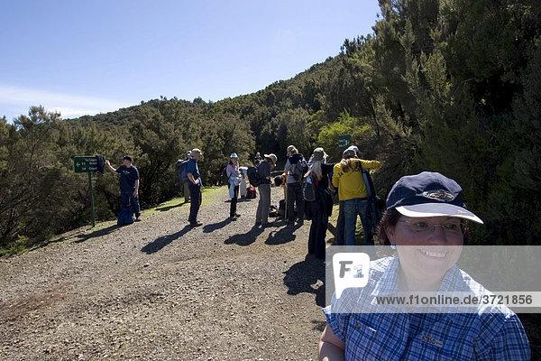 Wandergruppe im Nationalpark Garajonay - Kanaren La Gomera
