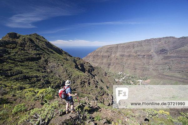 Wandern über dem Valle Gran Rey La Gomera Kanaren