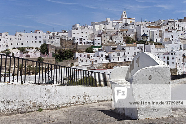View of a part of the Old Town in Vejer de la Frontera  Andalusia  Spain  Europe