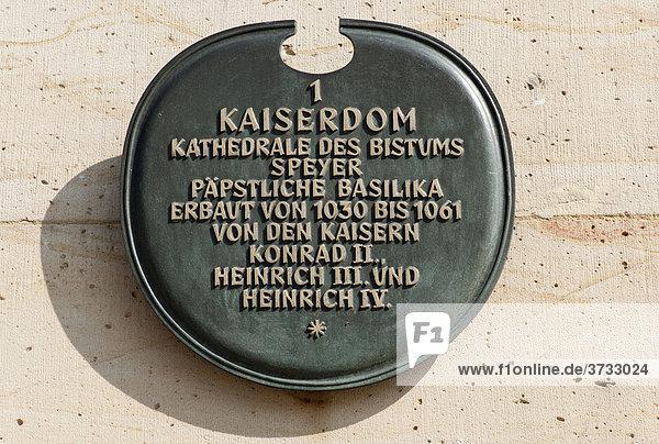 Der Dom zu Speyer  Kaiserdom  Speyer  Rheinland-Pfalz  Deutschland  Europa