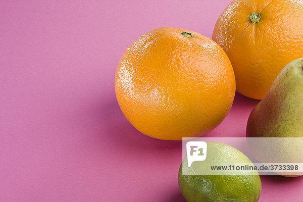 Orangen  Birne  Limette