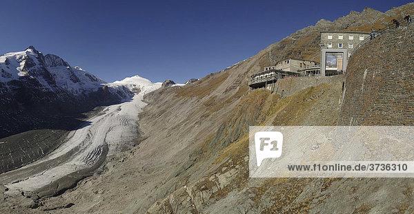 Panorama Gletscher Pasterze  Pasterzgletscher  Nationalpark Hohe Tauern  Alpen  Zentralalpen  Österreich  Europa