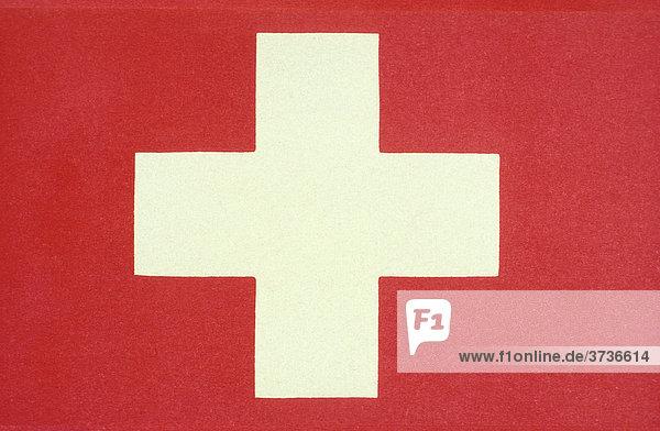 Schweizer Fahne  Flagge  rot  weiß  Symbol  Schweiz