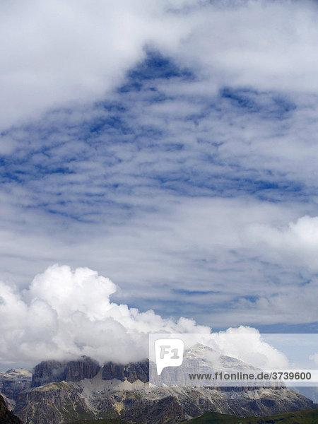 Piz Boe  3152 m  von Forcia Neigra  Dolomiten  Alpen  Italien  Europa