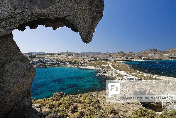Double bay of Kalafati  Kalafatis  Agia Anna  Dimasto  Mykonos  Cyclades  Greece  Europe