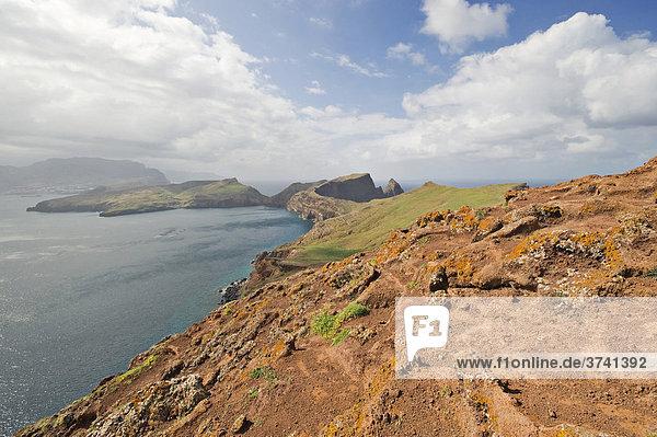 Blick vom Pico do Furado Naturschutzgebiet auf der Halbinsel Ponta de Sao Lourenco  Madeira  Portugal