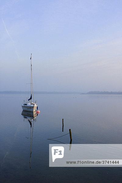 Segelboot auf dem Schaalsee  Zarrentin  Mecklenburg-Vorpommern  Deutschland