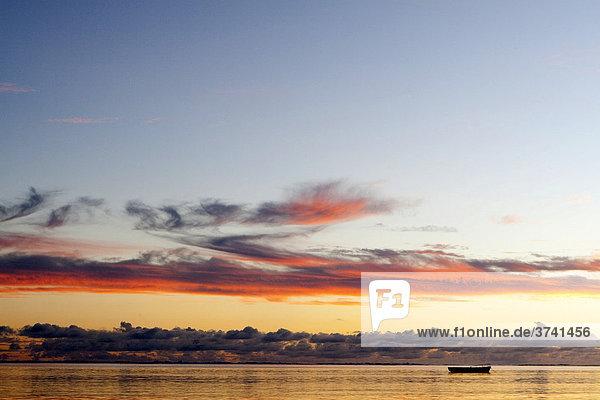 Wolkenstimmung am Meer