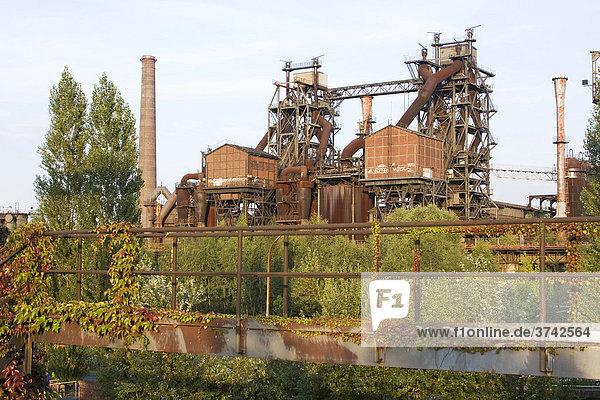 Industriedenkmal Thyssen Hochofen Eisenhütte Meiderich  Landschaftspark Duisburg-Nord  Nordrhein-Westfalen  Deutschland  Europa Industriedenkmal Thyssen Hochofen Eisenhütte Meiderich, Landschaftspark Duisburg-Nord, Nordrhein-Westfalen, Deutschland, Europa