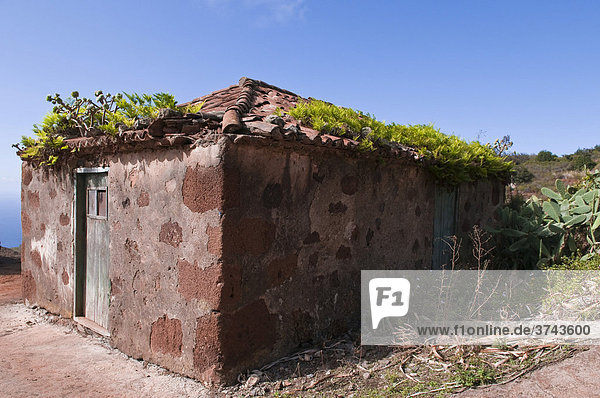 Deserted house in La Tosca  La Palma  Canary Islands  Spain  Europe