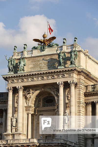 Neue Burg  Hofburg  The Imperial Palace  National Library  Vienna  Austria  Europe