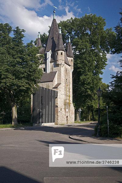Fünfgrat Turm  auch Fünffingerlesturm genannt  Augsburg  Bayern  Deutschland  Europa