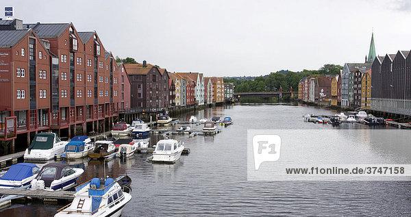 Speicherhäuser  Trondheim  Norwegen  Skandinavien  Europa