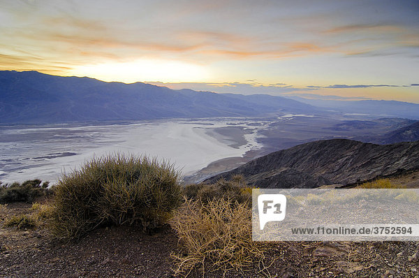 Dante's View lookout terrace  Death Valley National Park  California  USA  North America