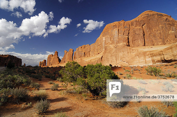 Sandsteinberg im Arches Nationalpark  Utah  USA