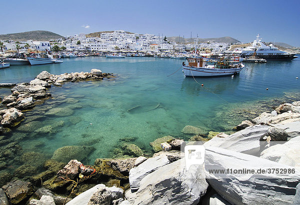 Port of Naoussa  Paros  Cyclades  Greece  Europe