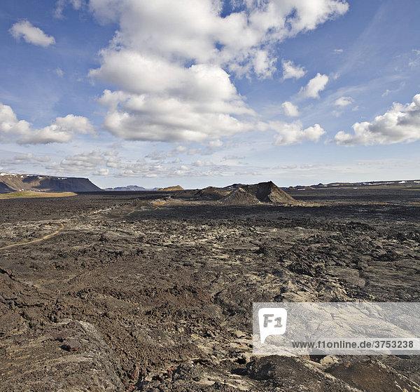 Volcanic crater  Krafla Caldera  Myvatn  northern Iceland  Iceland  Atlantic Ocean