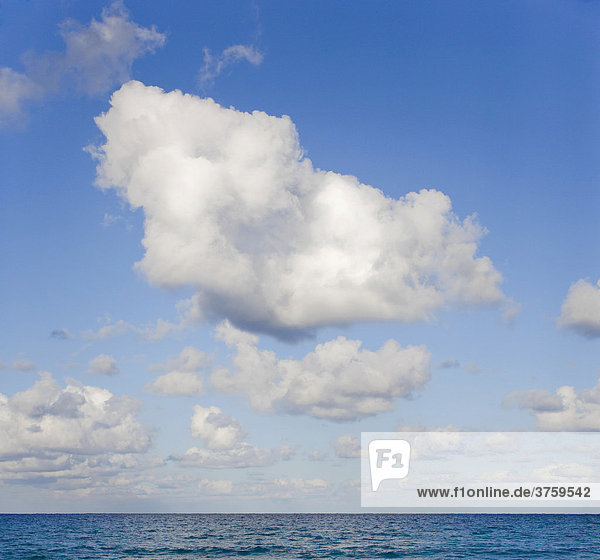 Clouds above the ocean