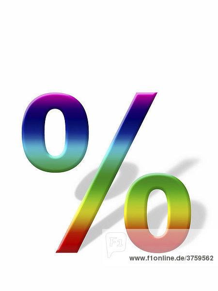 Percent symbol casting a shadow  graphic