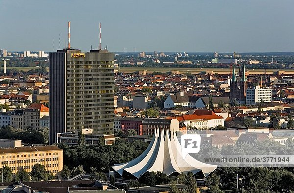 Tempodrom  is the white building Berlin Germany