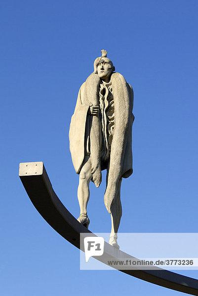 Gaienhofen - Skulptur von Bildhauer Peter Lenk - Landkreis Konstanz  Baden-Württemberg  Deutschland  Europa. Gaienhofen - Skulptur von Bildhauer Peter Lenk - Landkreis Konstanz, Baden-Württemberg, Deutschland, Europa.