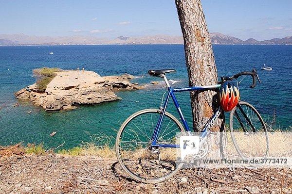 Bycicle at the beach  Alcudia  Majorca  Spain