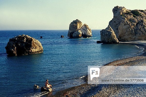 Greece Cyprus Island  greek part  Petra Tou Romiou bay