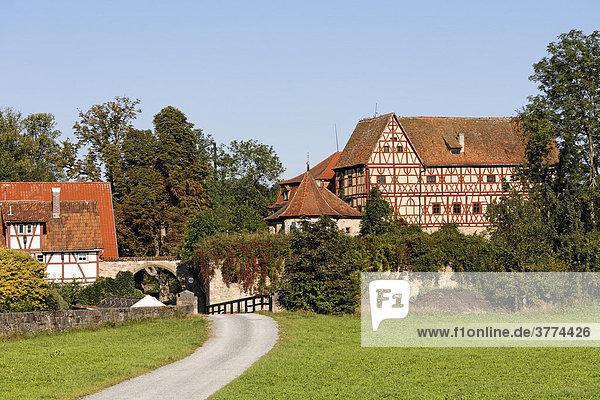 Schloss in Unsleben  Rhön-Grabfeld  Unterfranken  Bayern