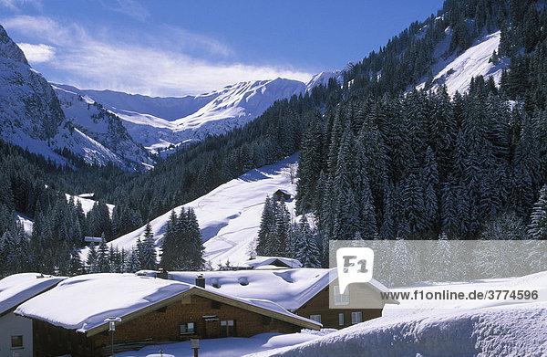 Baad  Kleinwalsertal  Allgäuer Alpen  Vorarlberg  Österreich