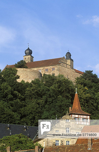 Plassenburg in Kulmbach  Oberfranken  Bayern