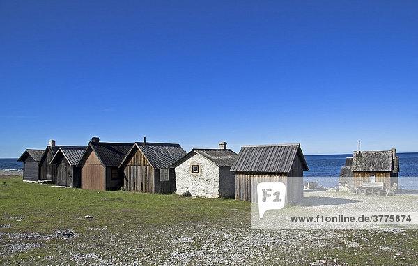 Fishing village Helgumannen  Island Faroe  Gotland  Sweden  Scandinavia