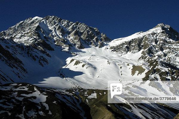 Gletscher und Gipfel auf der Nordseite des Pisang Peak Nar Nar-Phu Annapurna Region Nepal