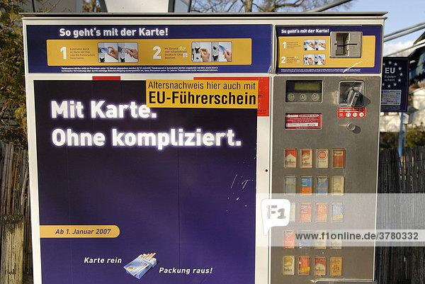 Zigarettenautomat Karte
