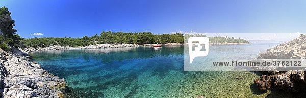 Lonely Bay  U. Maslinica  Island Hvar  Dalmatia  Croatia