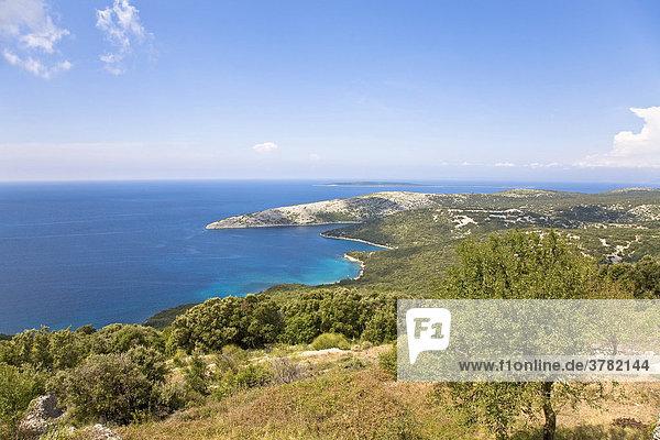 Badebucht bei Ustrine auf der Insel Cres  Primorje - Gorski kotar  Kroatien
