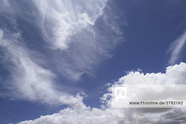 Cirrus and Cumulus Clouds
