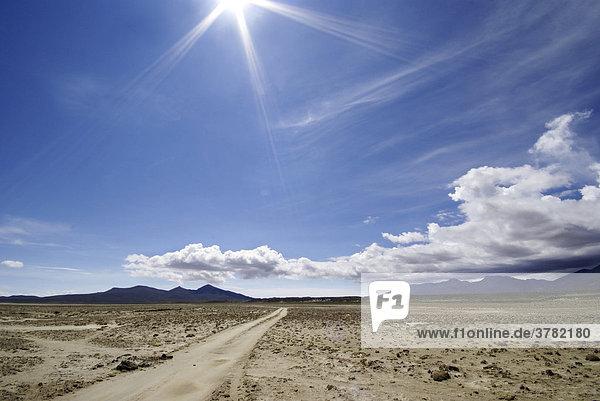 Landscape in the Uyuni Highlands  Bolivia