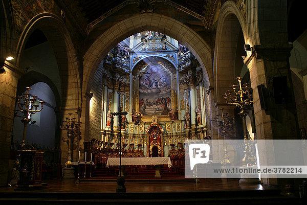 Altar of La Compania church  Ecuador  Quito