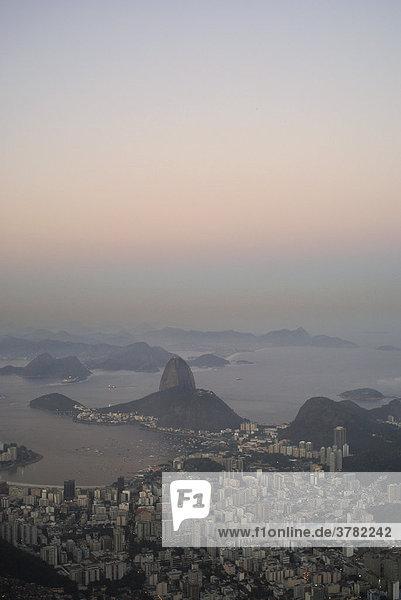Sundown in Rio de Janeiro  Brazil