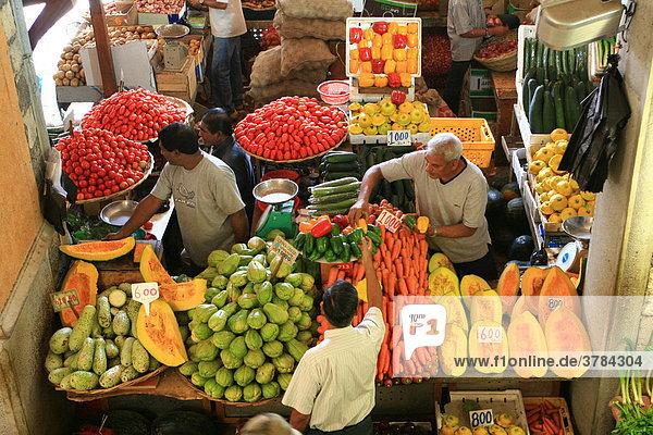 Markttreiben  Port Louis  Mauritius