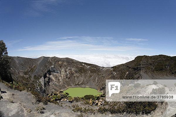 Nationalpark Vulkan Irazu  Hauptkrater mit Kratersee  Costa Rica