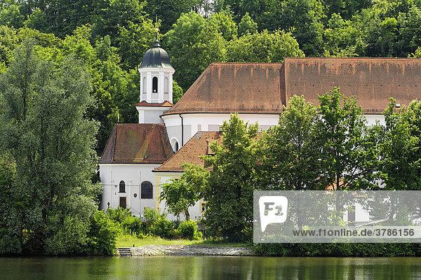 Wallfahrtskirche Maria Ort bei Regensburg  Naab  Oberpfalz  Bayern