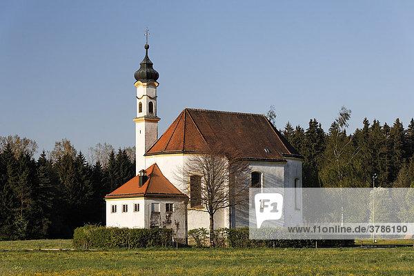 St Leonhard chapel  Dietramszell  Upper Bavaria  Germany