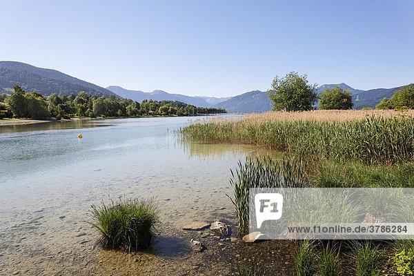 Tegernsee lake in Gmund  Upper Bavaria Germany