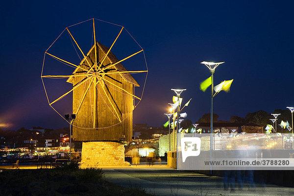 Windmühle Nessebar  Schwarzmeerküste  Bulgarien